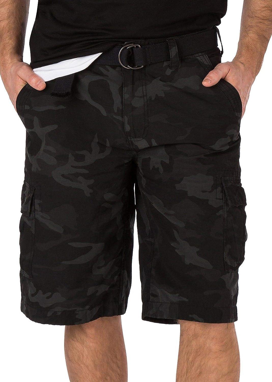 Wearfirst Sportswear Men's Belted Cargo Printed Shorts