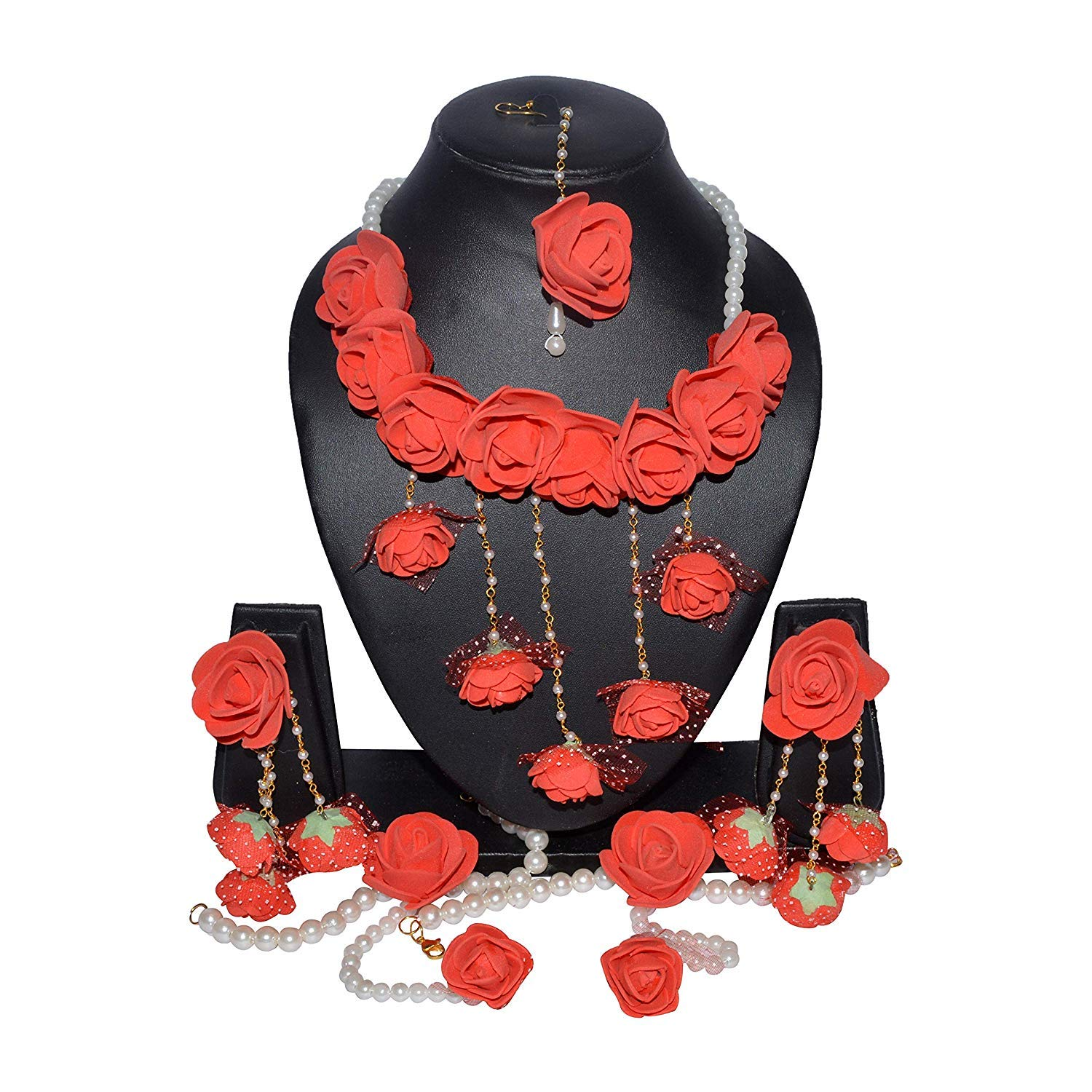 YouBella Jewellery Set for Women Floret Gota Patti Necklace,