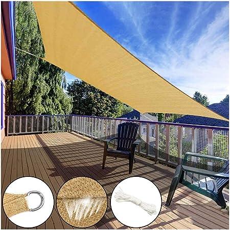 CLDZ-Grapadora Vela de Sombra Rectangular Se Puede Utilizar para Patio, Aire Libre, Jardín, Patio, Césped (Beige), Toldo Vela 95% De Protección UV 185GSM Vela - Transpirable (Color : 3X3M/10X10FT): Amazon.es: Hogar