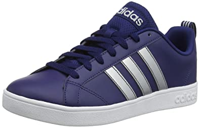 88166ada968d adidas Men s Vs Advantage Tennis Shoes Dark Blue Matte Silver FTWR White