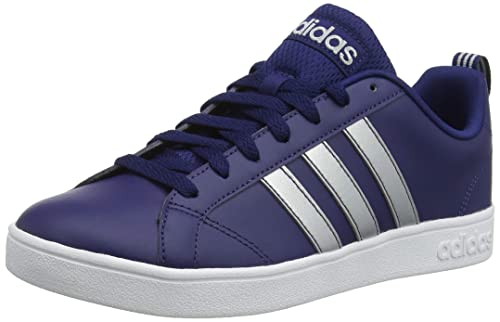 Adidas Men's Vs Advantage Dark Blue Leather Sneakers 11 UK