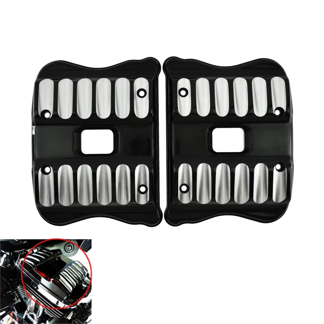 Rocker Box Covers CNC For Harley 04-17 Sportster Custom XL 1200 Iron 883 Seventy Two Forty Eight Roadster Low Customs Sports