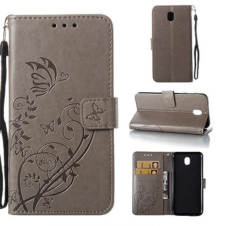 KATUMO Carcasas Galaxy J7 2017, Cubierta Funda Rigida Caso para Smartphone Samsung Galaxy J7 2017 SM-J730F Funda Dura Flip Case Cover Soporte ...