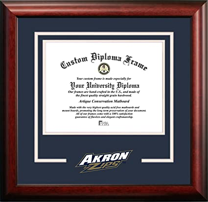 Amazon.com : Campus Images NCAA Akron Zips Spirit Diploma Frame, 8.5 ...