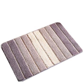 20x31.5 EZON-CH Non Slip Gold Heart Black And White Stripe Home Bathroom Bath Shower Bedroom Mat Toilet Floor Door Mat Rug Carpet Pad Doormat