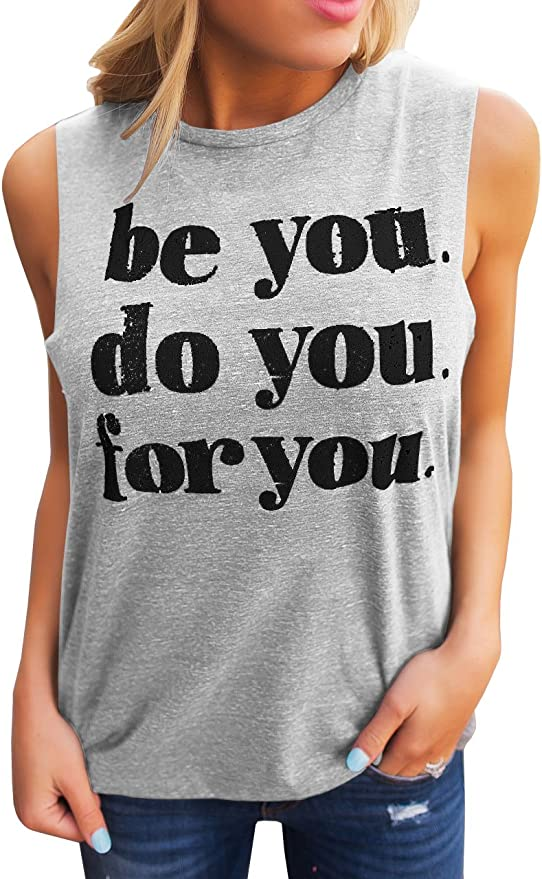 CHUNTIANRAN America Graphic Muscle Tank Tops Womens Funny July 4th Sleeveless T Shirt Teen Girls Cute Running Workout Vest