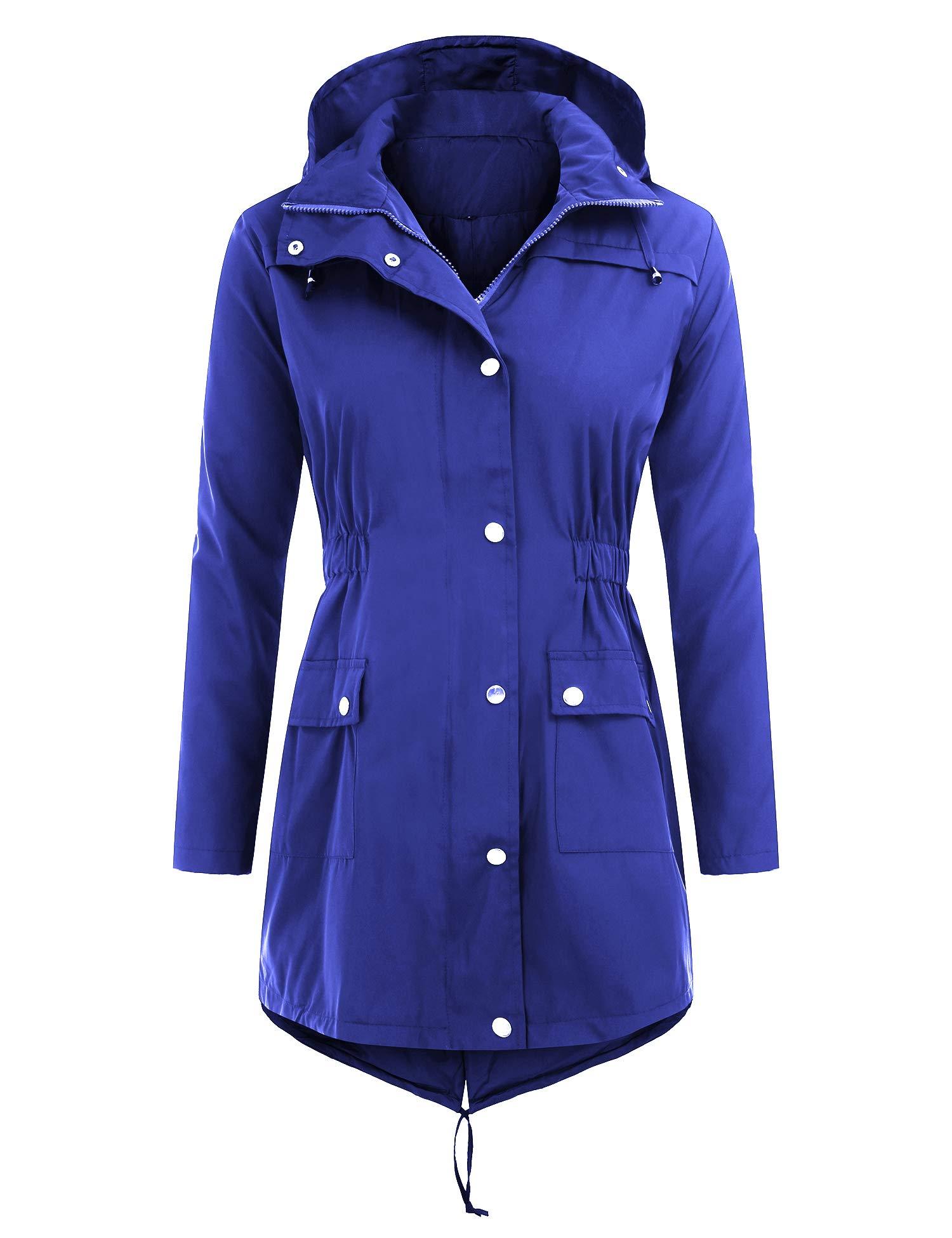 Uniboutique Raincoat Waterproof Outdoor Hooded Lightweight Rain Jacket Windbreaker by Uniboutique (Image #2)