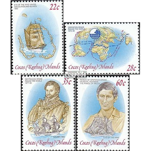 Kokos-îles 61-64 (complète.Edition.) 1980 drake (Timbres pour les collectionneurs)