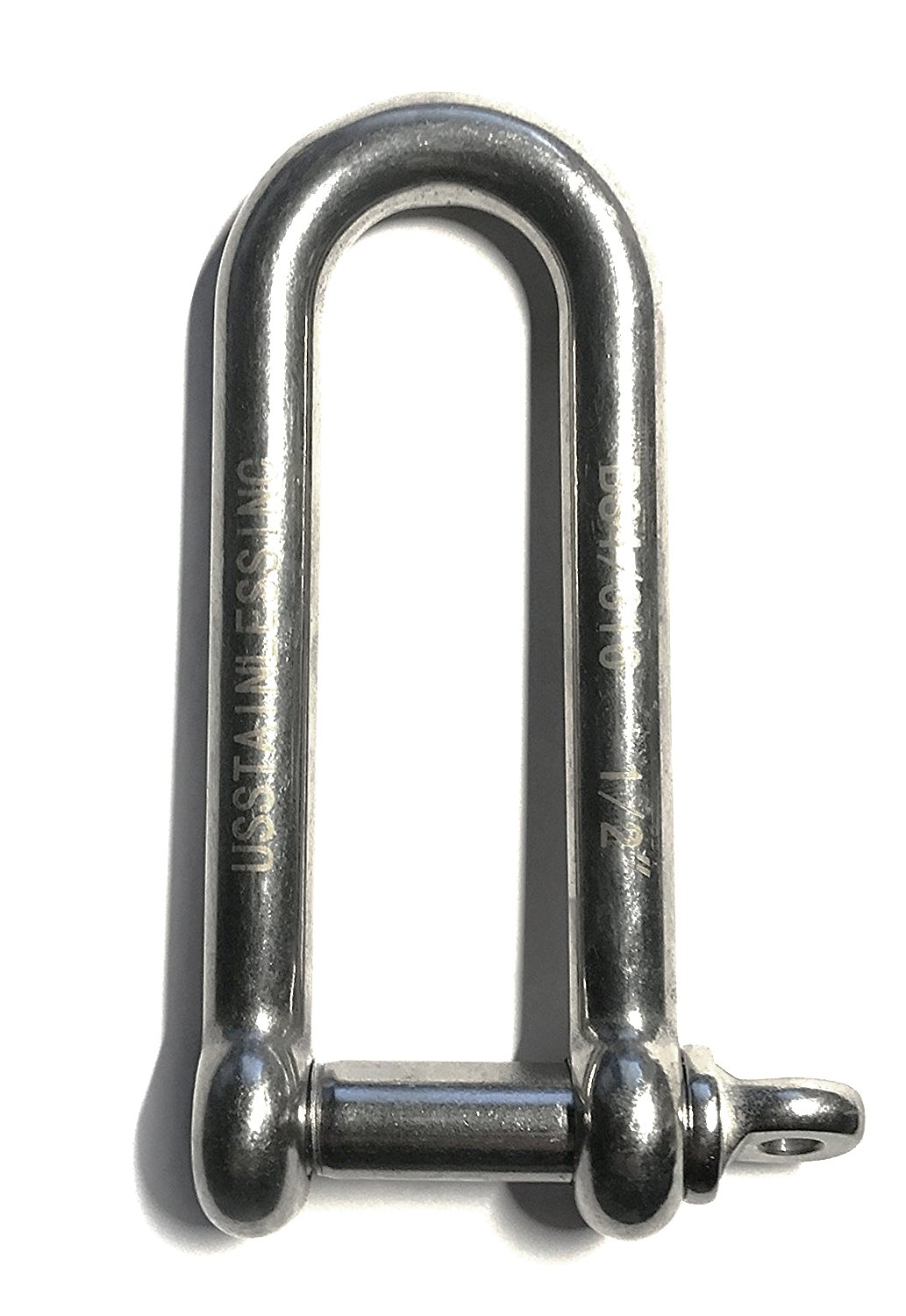 Stainless Steel 316 Long D Shackle 1/2'' (12mm) Marine Grade Dee