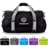 Freeman Small Sports Duffel Gym bag for Men Women,Lightweight Compact with Pockets