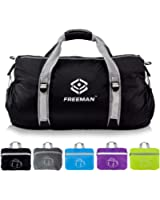 Freeman Small Sports Duffel Gym bag for Men Women,Lightweight Compact with Pockets