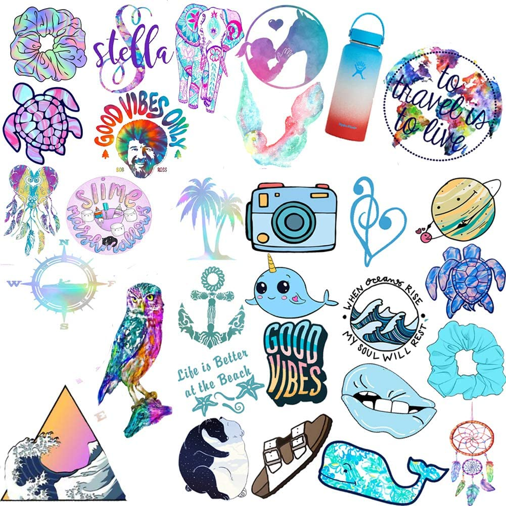VSCO Vinyl Sticker for Water Bottles and Laptops, Cute Waterproof Vinyl Stickers for Teens and Girls, Unique Aesthetic Durable Decal Stickers, Cool and Trendy Stickers Perfect for Hydro Flask, Phone