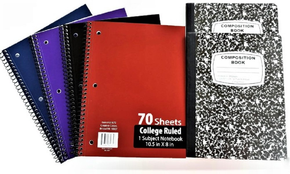 Over 55 Count School Supply Bundle by All Day Gifts, for Middle, High School and College - Binder, Mechanical Pencils, Sharpie, Pens, Hi-liters, Folders, Note Books Plus More (College Ruled) by All Day Gifts (Image #2)