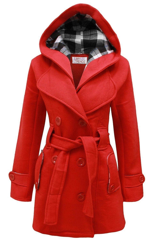 Womens Warm Fleece Hooded Jacket With Belt Coat Top Plus Sizes 4-22 unknown