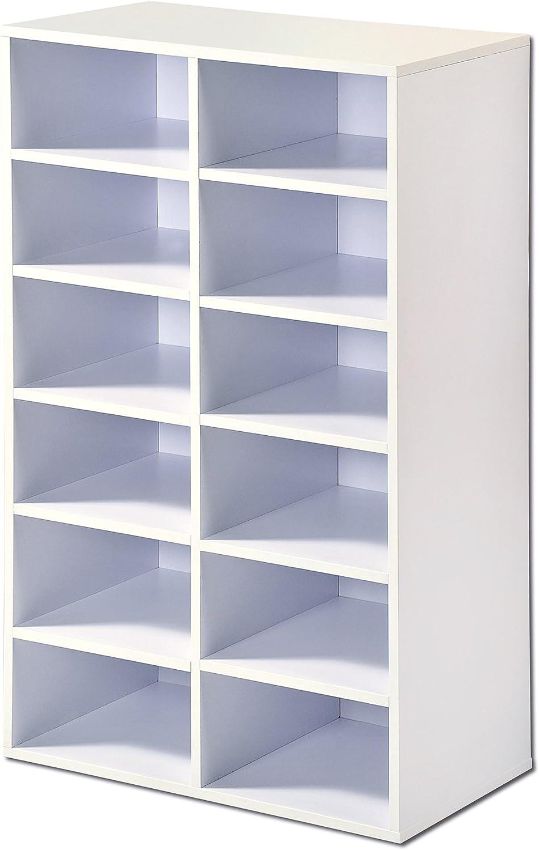 51.5/x 29.5/x 87/cm Blanc KESPER Meuble Universel