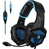 [2016 SADES SA 807 Nouvelle Sortie Multi-Platform New Xbox one PS4 Gaming Headset], Gaming Casques Casque Pour New Xbox un PS4 PC portable Mac iPad iPod (noir et bleu)
