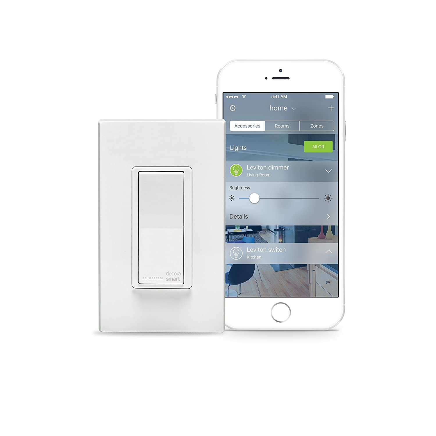 Leviton DH15S-1BZ 15A Decora Smart Switch, Works with Apple HomeKit ...