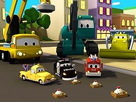 Equipo Constructor construye una Fábrica de Waffles y un Robot. ¡Ethan el camión volquete, Edgar la excavadora y Charlie la grúa son los miembros ingeniosos ...