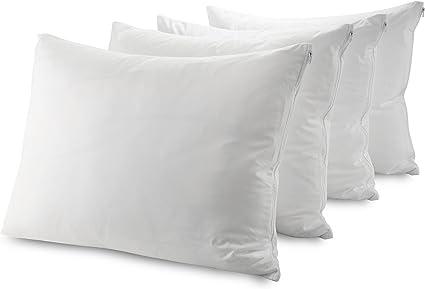 Guardmax Waterproof Pillow Protectors Standard Bed Bug Proof Hypoallergenic Zippered Encasement Covers Set Of 4 Standard Size 20 X26 Home Kitchen Amazon Com