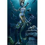 Wee Blue Coo John William Waterhouse Mermaid Old Master Painting Wall Art Print Mur Encadr/é D/écor 30 x 41 cm