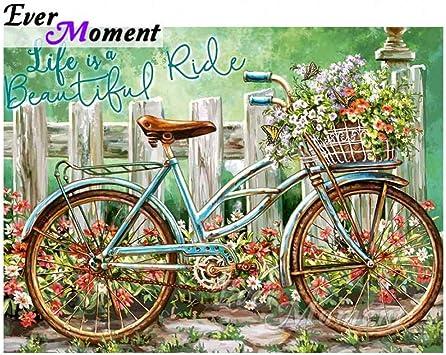 JHDBK Pintura De Diamante Bicicleta De La Bicicleta Lleno ...