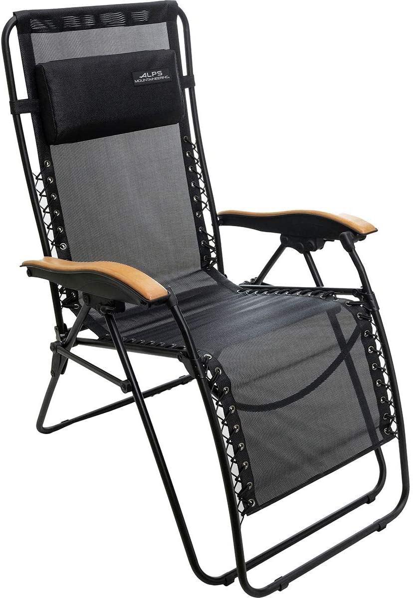 ALPS Mountaineering Lay-Z Lounger Chair, Black, One Size