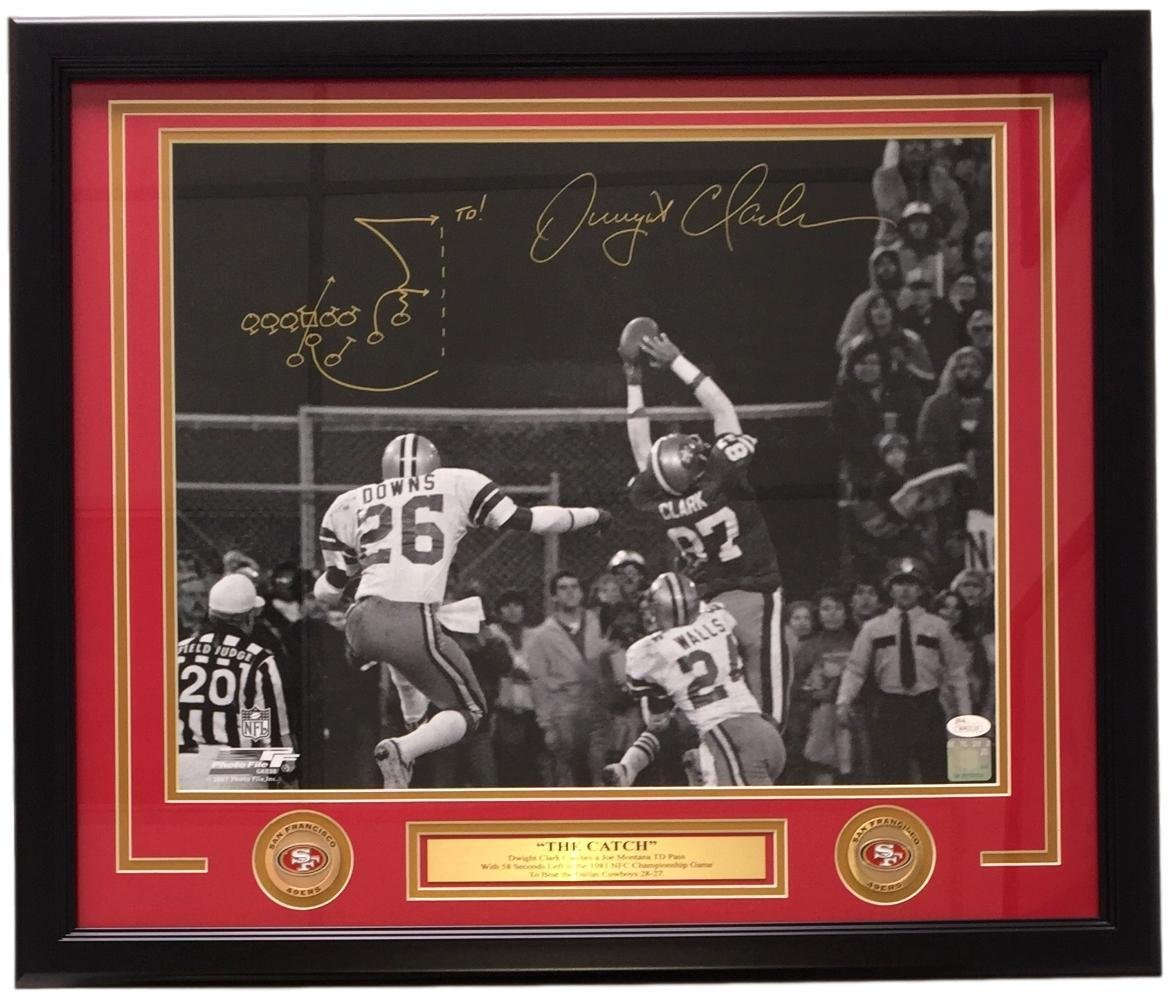 Dwight Clark Signed Picture - Framed SF 16x20 The Catch w Play Drawn - JSA  Certified - Autographed NFL Photos at Amazon's Sports Collectibles Store
