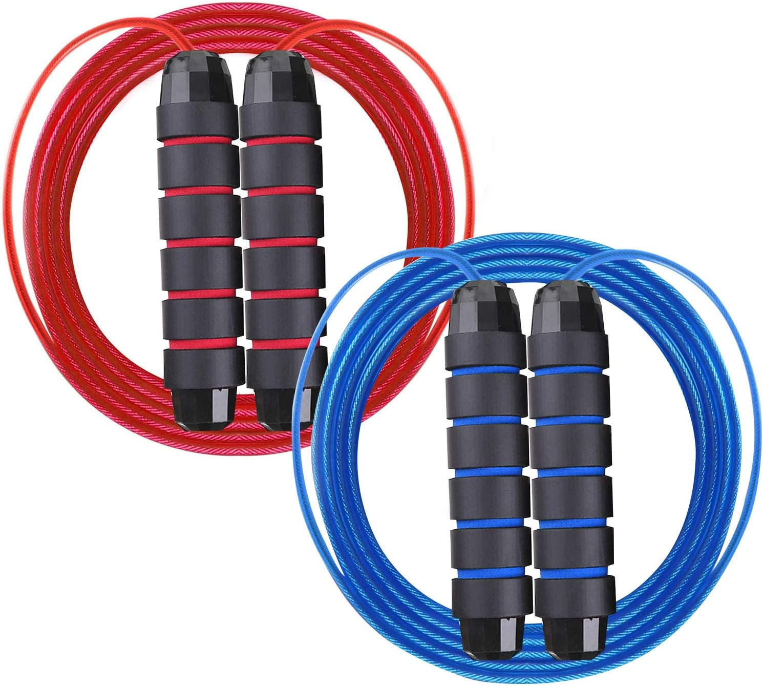 Black Ball Bearings Tangle-Free Adjustable Skipping Rope Adults for Endurance Training Fitness Speed Rope Jump Rope 3 Meters Long Etmury Skipping Rope