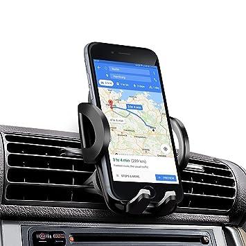 Soporte Movil Coche, EUGO Universal Soporte de Smartphone para Rejillas del Aire de Coche Kit