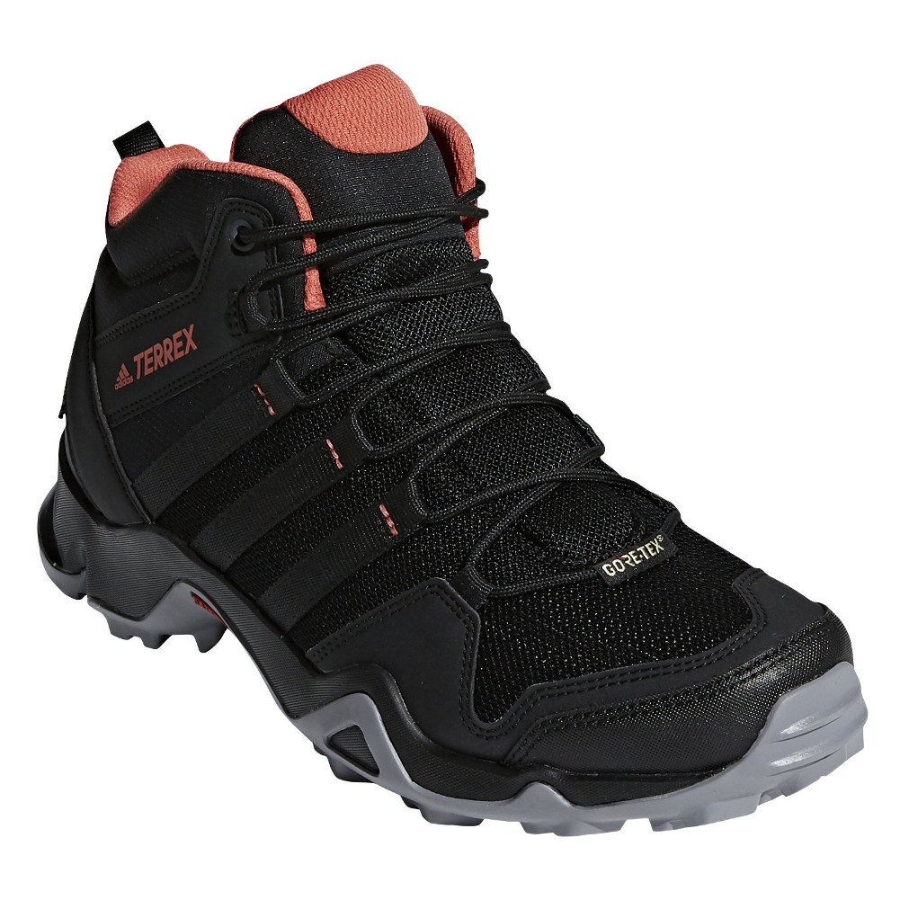 adidas outdoor Women's Terrex AX2R Mid GTX Black/Black/Trace Scarlet 8 B US by adidas outdoor
