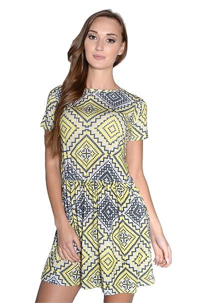 Kleid Minikleid Tunika Kleid Sommerkleid Cocktailkleid Gr L//XL S//M