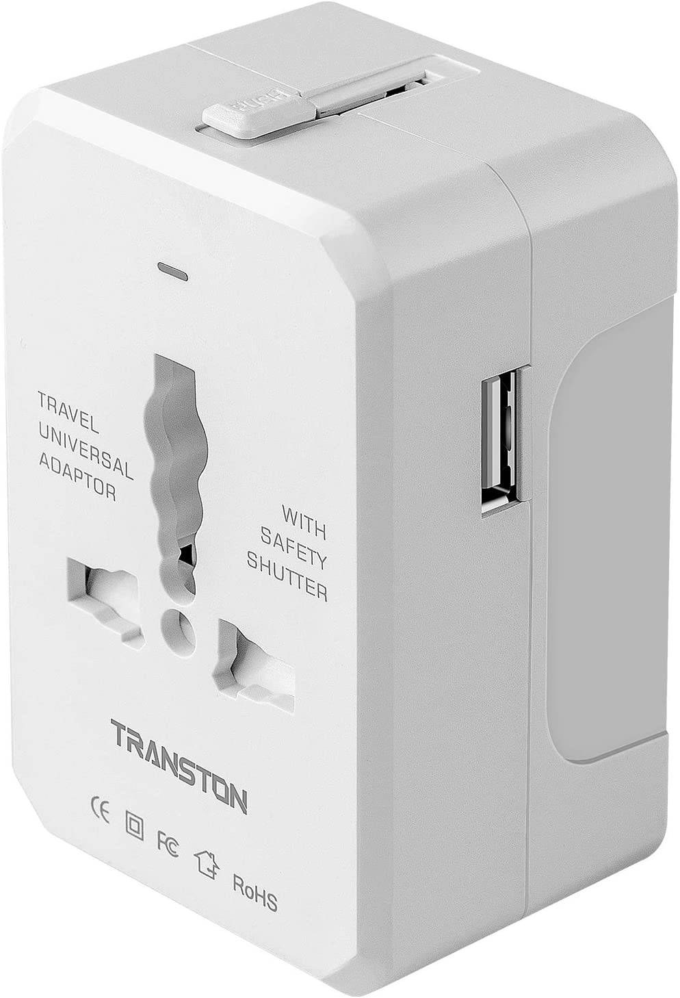 Travel Adapter, Worldwide All in One Universal Travel Plug Adapter AC Power Plug International Wall Charger with USB Charging Ports for USA EU UK AUS Cell Phone Laptop, White
