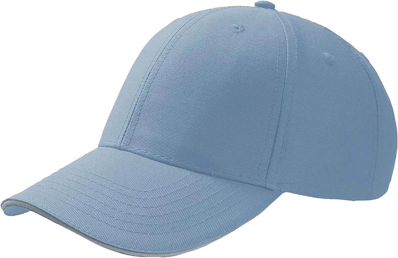 Gorra de Seis Paneles y Ajustable con Visera Plana para ni/ños Atlantis