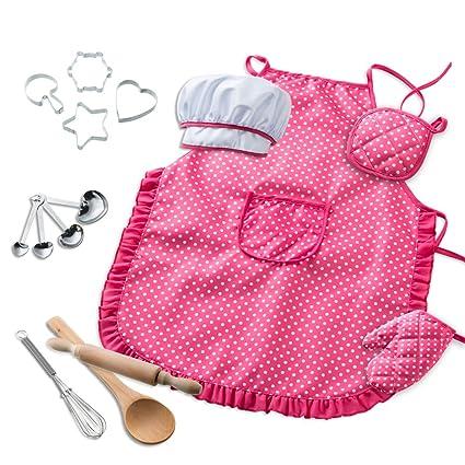 Amazon.com: maiago niños disfraz de chef set, Chef para ...