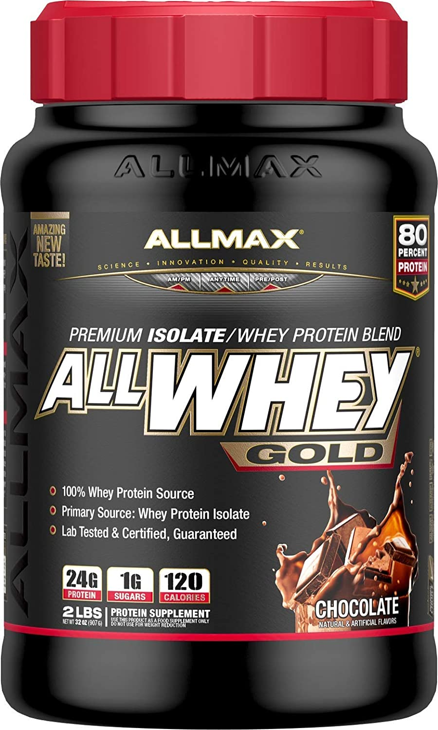 ALLMAX Nutrition AllWhey Gold 100 Whey Protein, Chocolate, 2 lbs