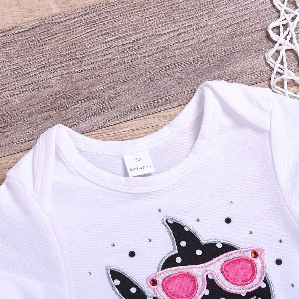 0-2Years,SO-buts Toddler Baby Kid Girls Print Romper Tops Bow Tutu Skirt Princess Outfit Set Clothes Dresses