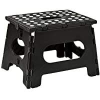 Folding Step Stool, Lightweight Sturdy Support Max 200lb, Open Easy One Flip Great for Kitchen, Bathroom, Bedroom, Kids…