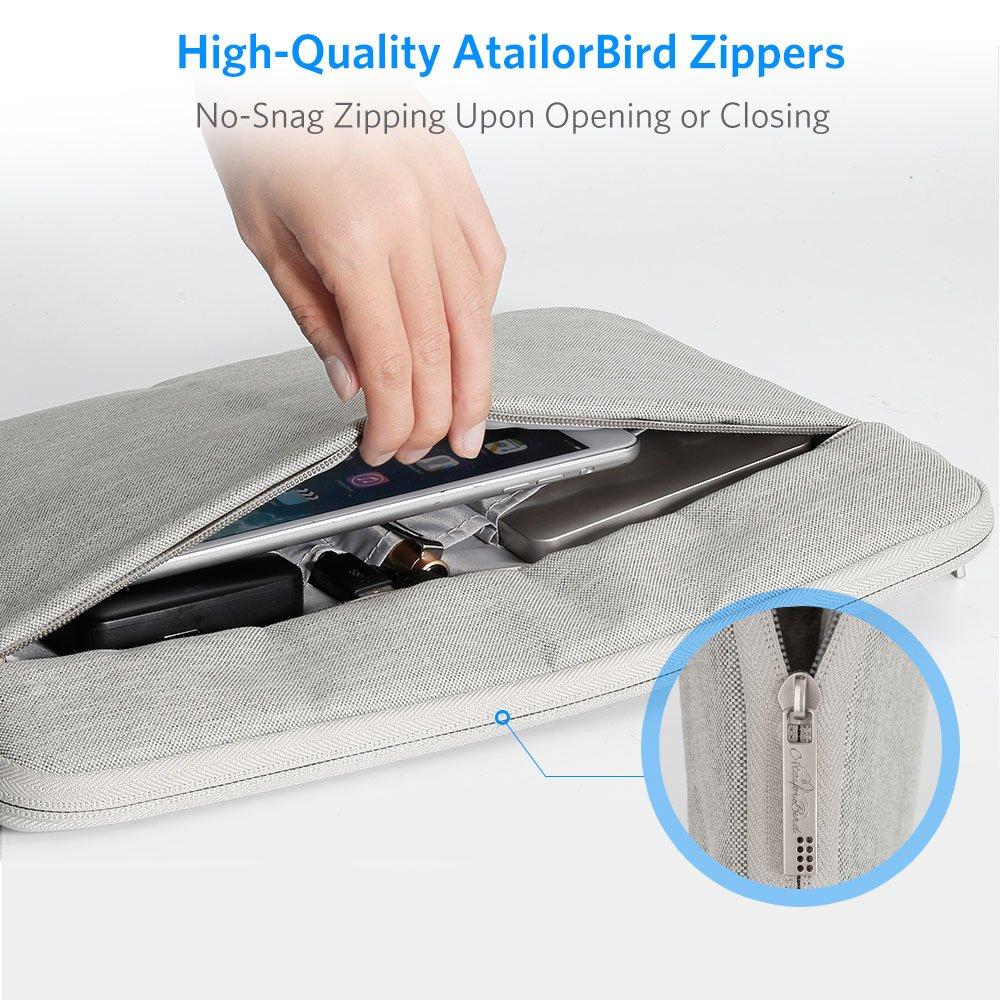 Plata Brillante A Tailor Bird Funda Ordenador Port/átiles 13-13.3 Glitter PU Cuero Fundas Protectora Port/átil Impermeable con Interior de Terciopelo Suave y Bolsillo Lateral Multifuncional