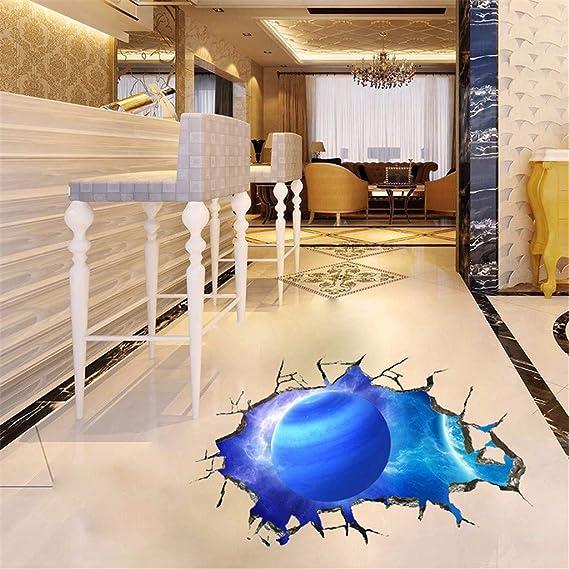 YWLINK Personalidad Espacio De La Pared Rota Planeta Vinilo Dormitorio Sala De Estar Oficina del Techo Dormitorio Etiqueta De La Pared Removible ...