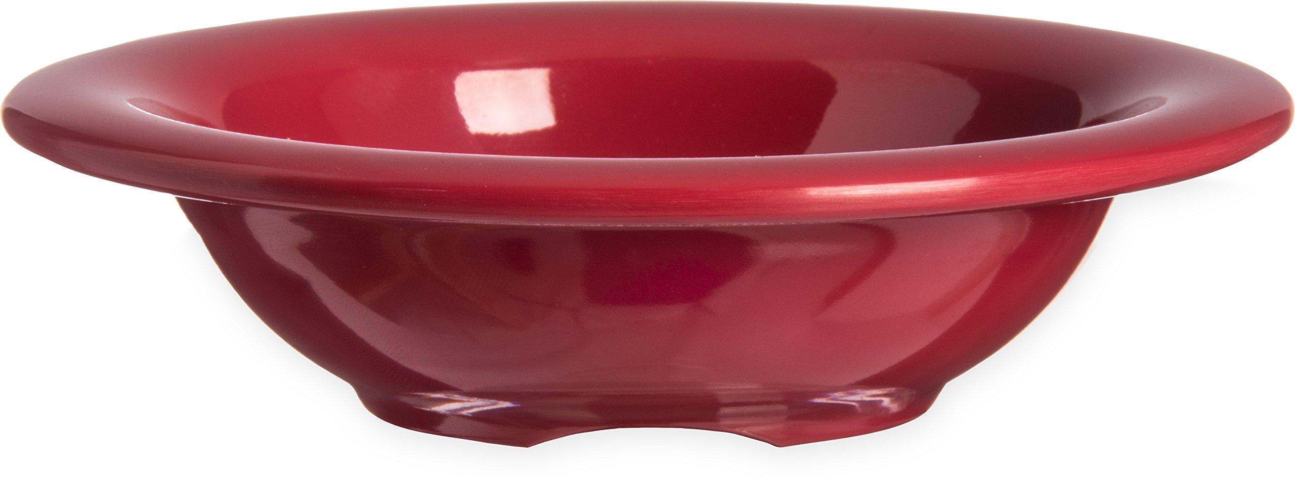 Carlisle 4304258 Durus Rimmed Melamine Fruit Bowl, 4 Oz., Roma Red (Pack of 48)