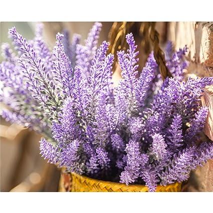 Amazon unilove artificial lavender bouquet fake lavender bunch unilove artificial lavender bouquet fake lavender bunch purple lavender flowers wedding decor decorations faux lavender bundles junglespirit Images
