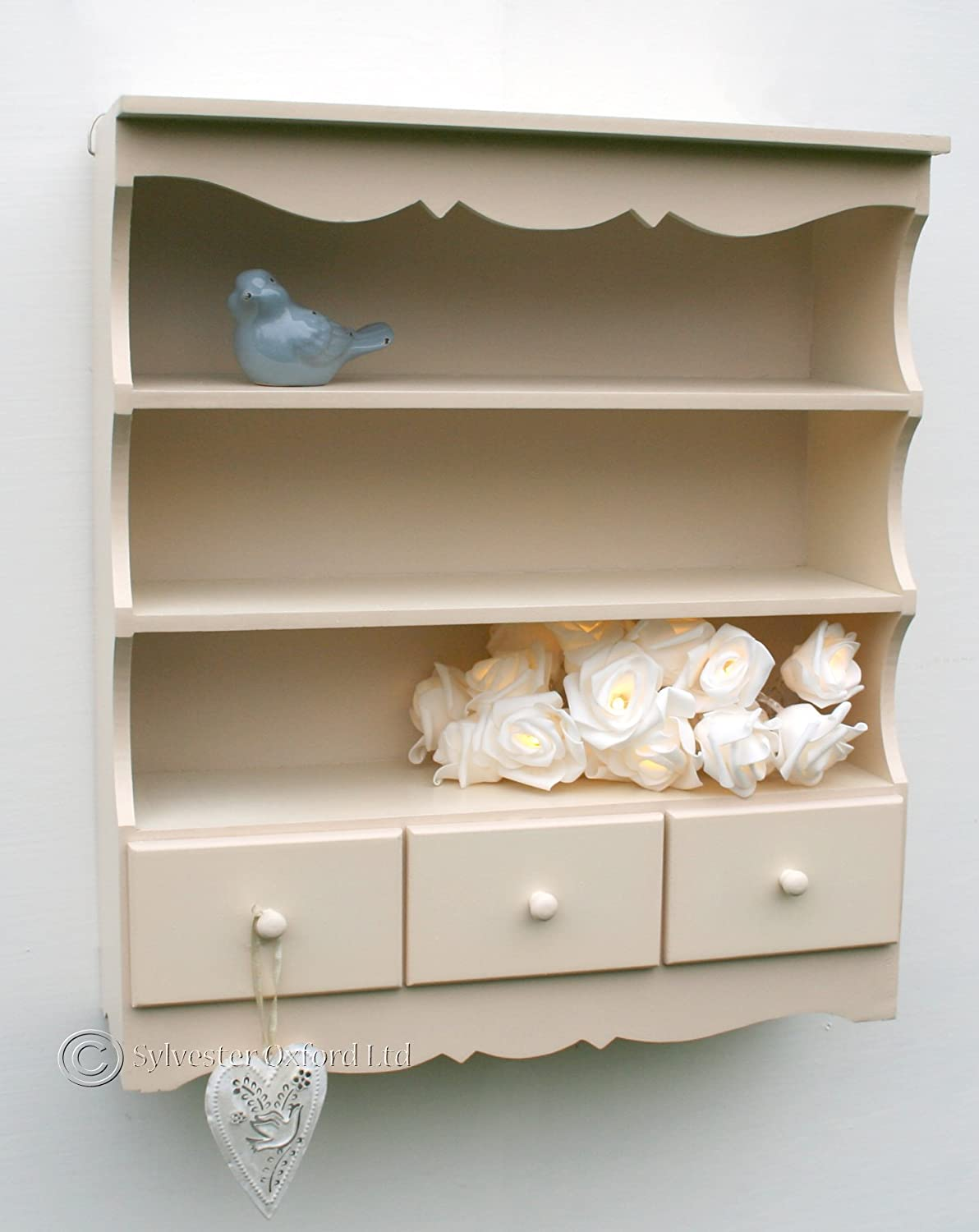 White Kitchen Dresser Unit Charles Bentley White Traditional Country Kitchen Wall Display
