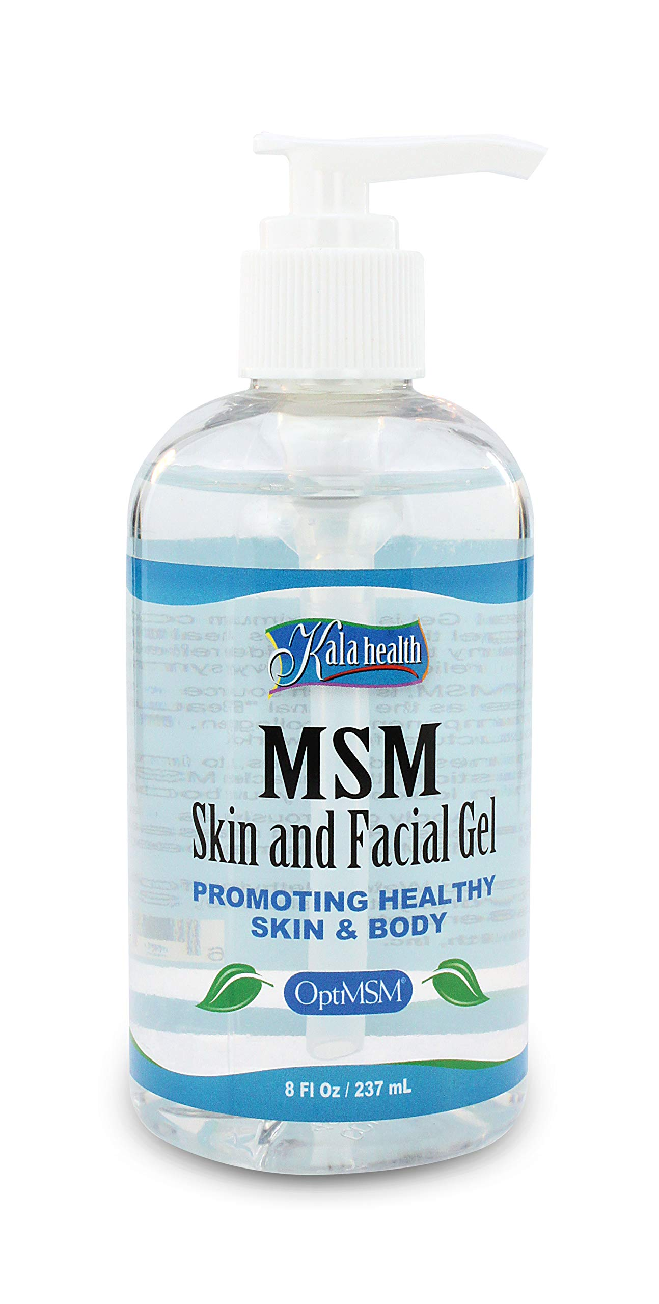 Kala Health MSMPure Maximum Strength Skin and Facial Gel Lotion, 8oz, for Soft, Smooth Healthy Glowing Skin, Softer Hair, Acne Treatment & Quickly Soothes Joints and Muscles