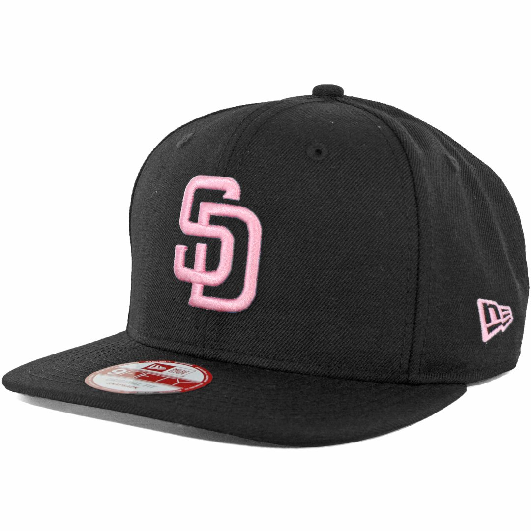Amazon.com   New Era SD San Diego Padres Custom Snapback Hat (Black Pink) 9Fifty  Cap   Sports   Outdoors 49fd60253b7
