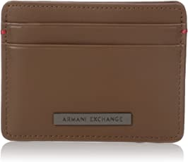Armani Exchange Men's Leather Cardcase With Logo Plate