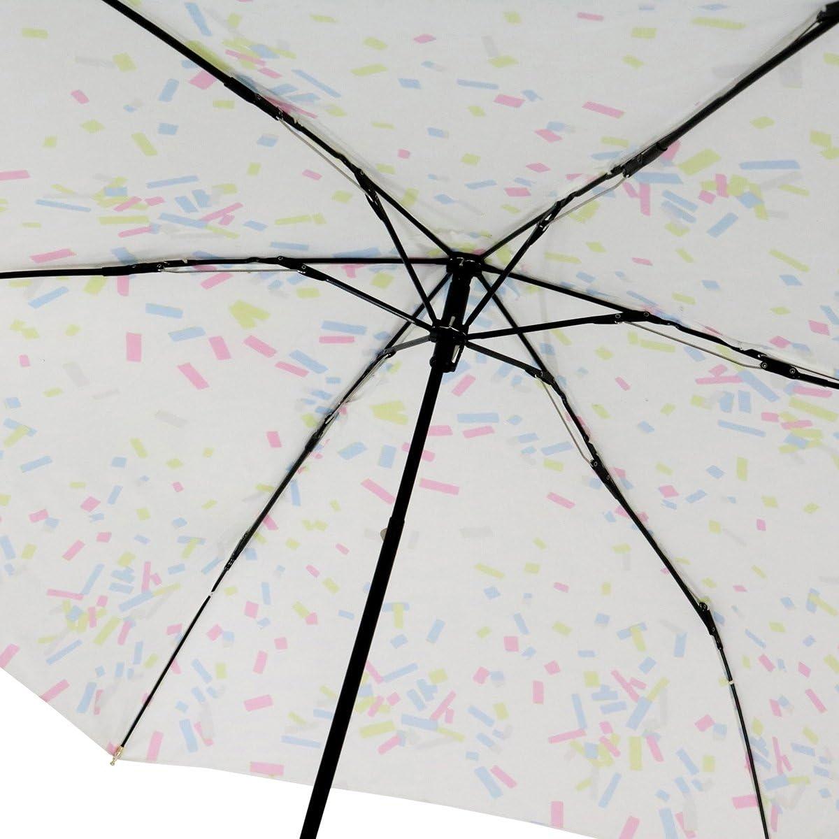 Nifty Colors folding umbrella confetti flat off-white six bone 50cm