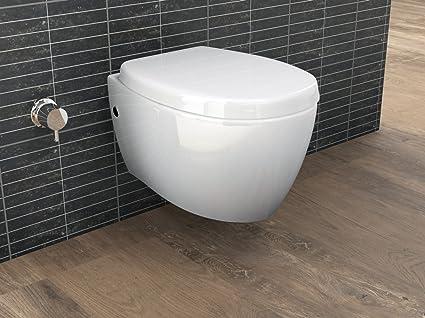 Aqua Bagno - WC sospeso con doccetta, funzione bidet/taharat, con ...