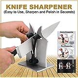 Home Kitchen Knife Accessories Multi Purpose Kitchen Knife Sharpener Sharpens Hones Polishes Serrated Standard Blades…