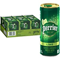 30-Pack Perrier Lime Flavored Sparkling Mineral Water, 8.45 fl oz. Slim Cans