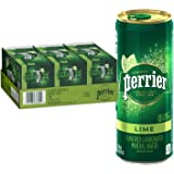 Perrier Lime Flavored Carbonated Mineral Water, 8.45 Fl Oz (30 Pack) Slim Cans